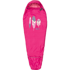 Jack Wolfskin Grow Up Sleeping Bag Barn azalea red